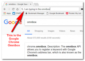 Omnibox is where the browser is on google
